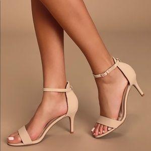 LuLus tan nude heels - size 8 NEW